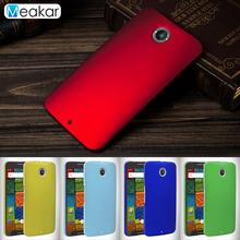 Grind arenaceous Hard Plastic shell 5.2for Nexus 6 Case For Motorola Google Nexus 6 XT1103 Cell Phone Cover Case(China)