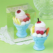Children Party Birthday Candle Cake Topper Fruit Cupcake Toppers Ice Cream Scented Candle Birthday Cake Decorating Supplies(China)