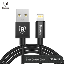 Baseus MFI USB Cable For iPhone 8 7 7s 6 6s Plus 5 5s se iPad Air Mini 2 3 Fast Charging Data sync Charger For Lightning Cable(China)