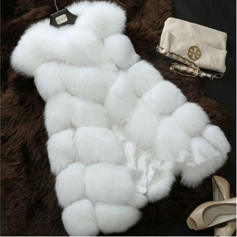 Spring Faux Fur Coat Women Plush Sleeveless Jacket...