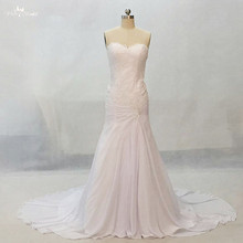 LZ160 Alibaba Sweetheart  A Line Chiffon Wedding Dress Lace Dress Vestido De Novia
