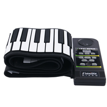 88 Key Electronic Piano Keyboard Silicon Flexible Roll Up Piano with Loud Speaker(China)