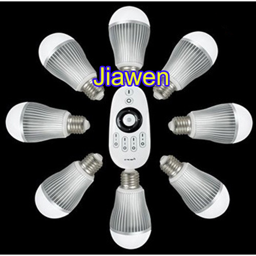 1set/lot, 6W LED Bulb Color Temperature&amp;Brightness Adjustable 5630 2.4G Group Division +Wireless RF Remote Control<br><br>Aliexpress