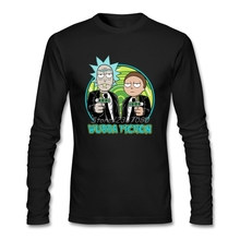 Rick Morty T Shirt Men Best Deals Premium Long Sleeve Bespoke New Designed Plus Size Shirts(China)
