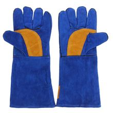 Safurance 16'' Pair Long Heavy Duty Double Reinforced Welding Gauntlets Welder Gloves Safety Gloves Workplace Safety(China)