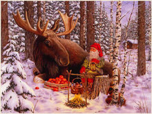 NEW DIY 5D Diamond Painting Cross Stitch Santa Claus and deer pattern Pictures round Diamond Emboridery Mosaic winter scenery(China)