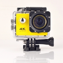 gopro hero 4 style Camera 4K F60 WiFi go pro Sport camera 30M Waterproof mini Cam 1080p HD cam+Charger+Battery Free Shipping