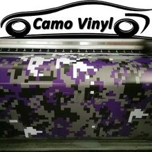 Car Styling Purple Digital Camo Vinyl Wrapping Pixel Camouflage Car Wrap Vinyl Sticker Film Car Body Covers Air Bubble Free