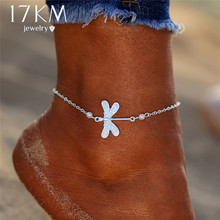 Buy 17KM New Boho Silver Color Animal Anklets Women Girl Bohemian Chain Beads Anklet Beach Bracelet DIY Foot Jewelry Party Gift for $1.37 in AliExpress store