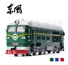 High Simulation Exquisite Model Toys: Car Styling Nostalgic Dongfeng 4B Green Locomotive 1:87 Alloy Trains Model Excellent Gifts