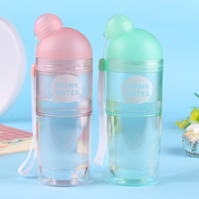 One Is All GYBL264 400ml Transparent Bottle Double Wall Plastic Water Bottle With Tea Filter Juice Kettle(China)