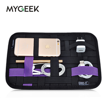 MyGeey Travel bag Mobile Phone Pouch Digital Storage bags for iphone 5 6 6s 7 cable Pouch headphone mobile charger storage plate(China)
