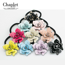 Chaplet 2016 New Rose Flower Rubber Bands Fashion Women Hair Accessories Jewelry Headbands Girl Elastic Hair Bands Free Shipping(China)