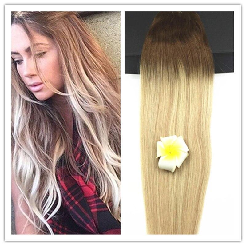 Full Shine 2016 Fall Fashion Trends Brazilian Human Hair Sew in Weave  #5#18#24 Balayage Color Straight 100g Hair Bundles  <br><br>Aliexpress