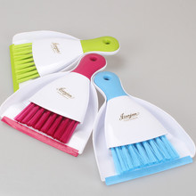 Fashion mini broom dustpan Mini clean dust cleaning brush set keyboard cleaning brush desktop cleaning set TRQ152(China)