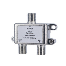 10pcs 1 In 2 Out Dual-use 2 Way Port TV Signal Satellite Splitter Sat Coaxial Diplexer Combiner Combiners Cable Switch Switcher