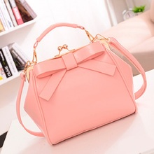 Kawaii Shoulder Bags Handbags Women Famous Brands PU Leather Bag Women's Hasp Bow Tie Crossbody Bag Female Casual Tote