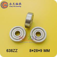 10pcs/lot Factory direct sale 638 638ZZ 638Z 638-2Z 80038 8*28*9 mm High quality deep groove ball bearing