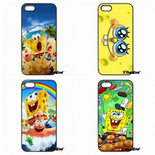 For iPhone 4 4S 5 5C SE 6 6S 7 Plus Galaxy J5 J3 A5 A3 2016 S5 S7 S6 Edge Cute Cartoon SpongeBob SquarePants Hard Phone Case