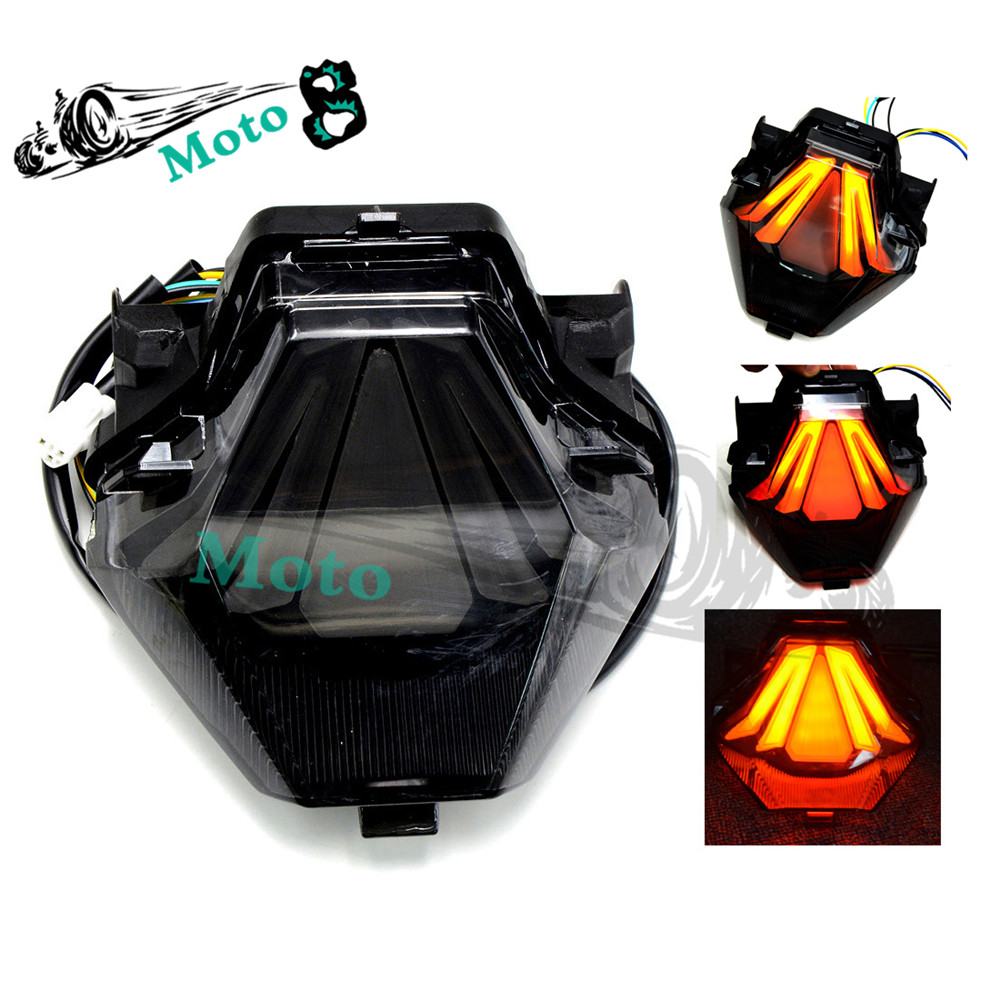 Motorcycle Rear Tail Light Brake Turn Signals Integrated Led Light Smoke For 2013 2014 2015 2016 Yamaha yzf R3 R25<br><br>Aliexpress