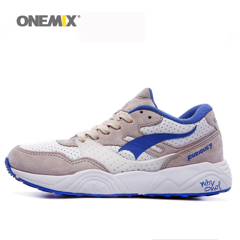 Onemix mens running shoes classic vintage sneakers breathable walking outdoor sports shoes for men running shoes for women shoe<br>