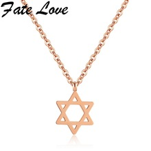 Fate Love Hot Women Pentacle Pentagram Pendant Witch Protection Star Amulet Necklace Tribal Pattern Israel Jewish Jewelry FL1307(China)
