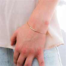 Ahmed Jewelry Gold and Sliver Color Tube Simple Cute Bracelet For Woman 2017 New bracelets & bangles Hot Gift bl02