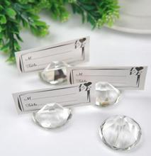 Fast Delivery! Factory Directly Sale Wedding Favor Shining cut Crystal Diamond Look Place Card Holders Wholesale