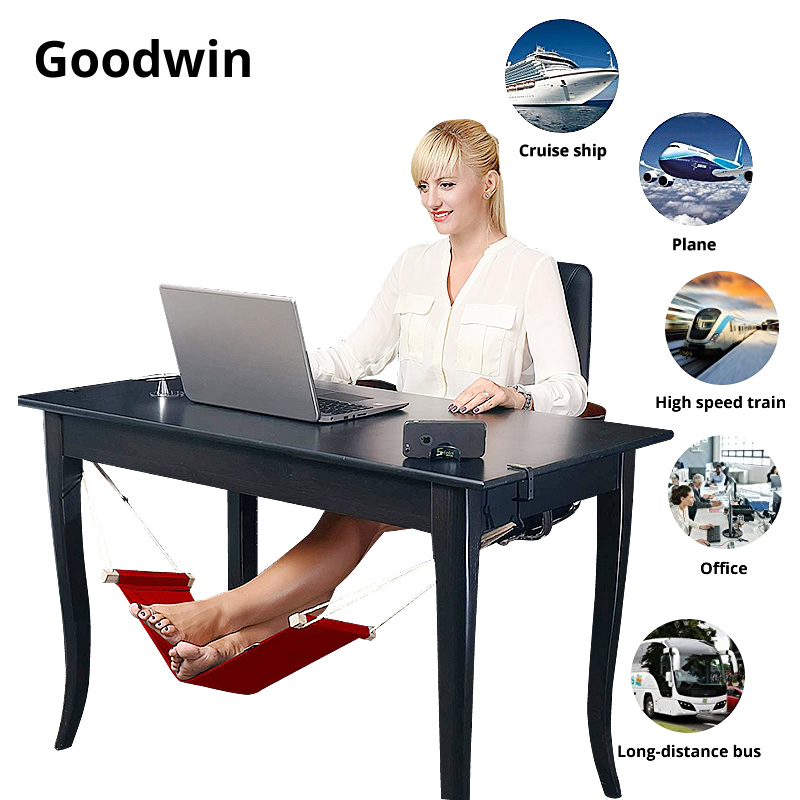 Furniture Accessories Beautiful Aag Whosale Ultralight Soft Foldable Feet Hammock Home Office Travel Leisure Chair Table Desk Mini Foot Feet Rest Hammock Black