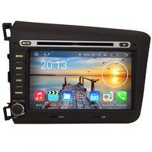 Android 7.1.2 quad core 2GB RAM Car DVD GPS Navigation System Stereo Media Auto Radio for Honda CIVIC 2012 2013(China)