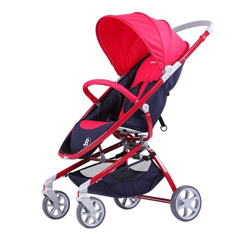Luxury Baby Stroller Pink Gray Color Baby Pushchair Girls Bo