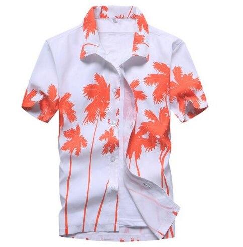 Mens Hawaiian Shirt 2018 Summer New Casual Camisa Masculina Floral Printed Short Sleeve Male Beach Shirts Plus Size