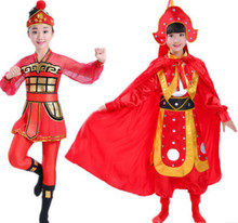 Mu Guiying hua mulan costume for children soldier cosplay warrior cosplay for women chinese ancient dynasty clothing new year(China)