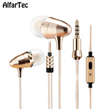 Metal Mesh Bullet Head In-ear Earpiece With Mic 3.5mm Connector Super Bass Clear Stereo Earphone Sport Gaming For IOS Andriod PC(China)