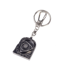 New Arrived Engine Rotary Rotor Keychain Key chain Silver Auto Part Model Automotive Accessories Wankel Keyring Key Ring(China)