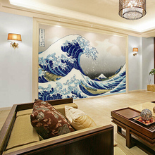 Japanese restaurant ktv living room sofa backdrop wallpaper bedroom wallpaper TV wall mural