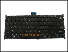 Free shipping!! Black New Keyboard For Acer Aspire One 725 756 AO725 AO756 Ultrabook Netbook US Version Black