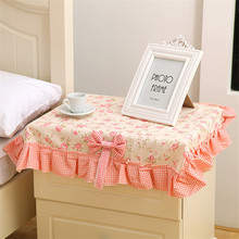 New Korean version of the creative lace fabric bedside cabinet cover dust cover multi-use towel universal cover towel
