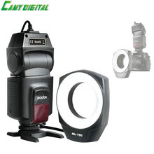 Godox Macro Ring Flash ML-150 circular GN10 Color Temperature 5600K-200K Flash Duration 1/300s-1/5000s For all DSLR camera