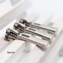 3# Wholesale 10pcs Zipper nice silver Metal Zipper Pulls zipper Head For Handbag/ Backpack/Clothing/Sewing Tailor Tools,t26