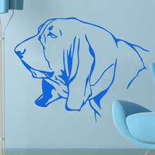 Most Popular Home Decor Accessories Basset Hound Wall Decal Vinyl Removable Living Room Dog Head Sticker Decoration