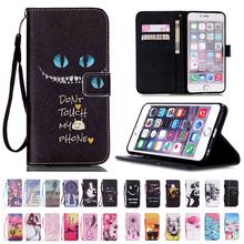 Wallet Stand Flip Leather Cover For iPhone 8 7 6 6S Plus SE 5 5S 5C 4 4S Credit Card Holder Phone Protective Case Cuero(China)