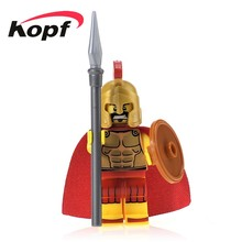Super Heroes Hero Sparta Gladiatus Warriors Medieval Knights Rome Bricks Action Building Blocks Toys children Gift XH 438 - Minifigures store