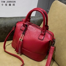 2017 women's genuine leather shoulder bags women messenger bags handbags women famous brand bag Black Red Blue Pink CC0822