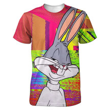 Real American size trippy bugs bunny  3D Sublimatin print  high quality T-shirt Custom Made Clothing plus size