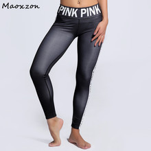 Buy Maoxzon Womens Letter Print Sexy Fitness Workout Slim Leggings Plus Size Fashion Active Skinny Elastic Pants Female 3XL for $15.11 in AliExpress store