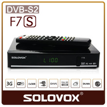 SOLOVOX F7S Satellite receiver DVB S2 USB WIFI/3G support cccams sharing newcamd twin 2 tuners PK Freesat V8 Super Free Shipping(China)