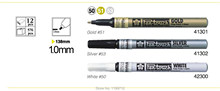 YQB 3 Pc / Set Sakura Pen Touch Bullet Tip Paint Marker Gold Silver White 1.0 F