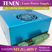 MYJG 40W T CO2 Laser Power Supply 110V / 220V High Voltage For Engraving Cutting Machine Matched With Laser Tube Year Warranty