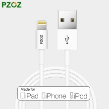 PZOZ MFI Certified Lighting Cable USB Cabel Adapter Fast Charger For i6 iphone 7 6 6s Plus i5 iphone 5s 5se ipad air 2 i7 ipod 5